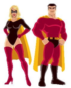 Pixel Power Super Heroes